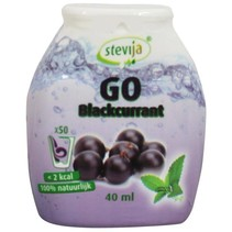 Stevia limonadesiroop go blackcurrant