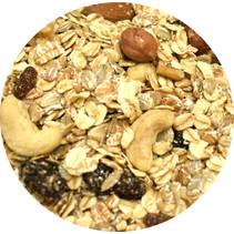 Muesli met rozijnen en noten