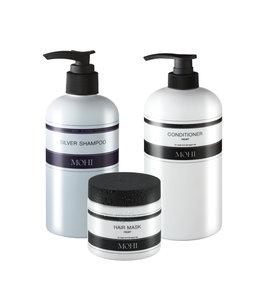 MOHI MOHI Silver Shampoo  300ml, Conditioner Repair 300ml & Hair Mask 200ml