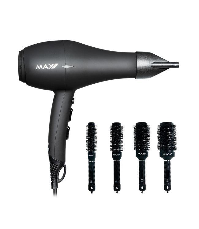 Max Pro Xperience Hair Dryer + Hairbrush Set