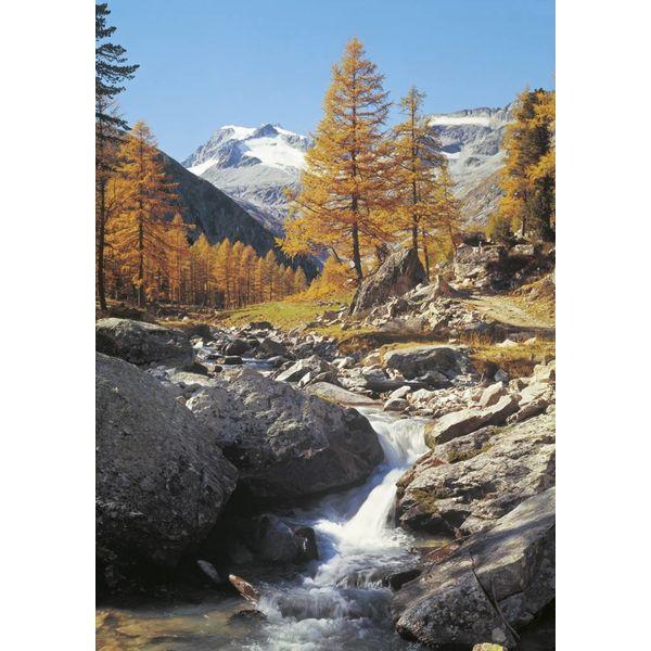 Berglandschaft mit Bach - Fototapete 4-teilig 270 x 194 cm
