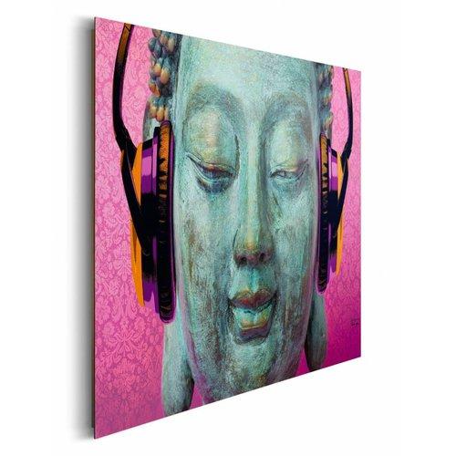 Wandbild Buddha pink