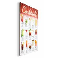 Cocktails Englisch - Deco Panel 60 x 90 cm