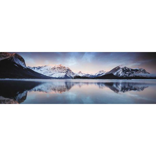 Sonnenaufgang Bergsee - Deco Panel 156 x 52 cm