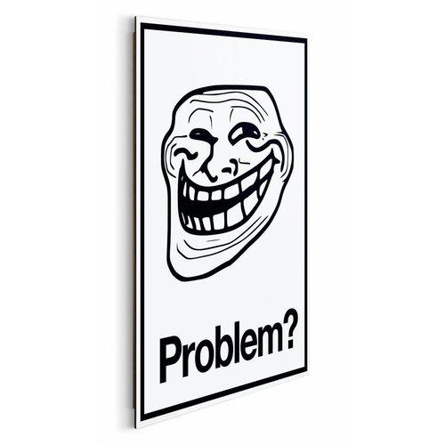 Wandbild Trollface