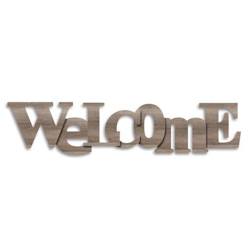 Wandobjekt Welcome