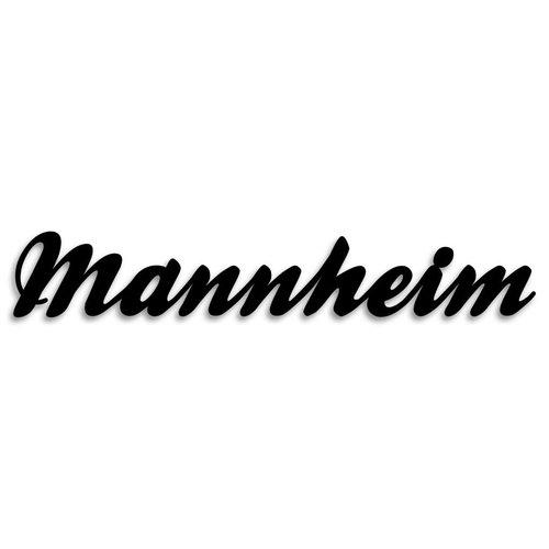 Wandobjekt Mannheim Schreibschrift