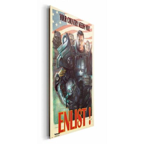 Wandbild Fallout 4 Enlist
