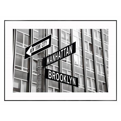 Wandbild New York Strassenschilder