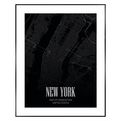 Wandbild Manhattan Stadtplan