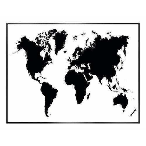 Wandbild Weltkarte Stencil