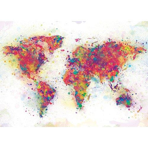 Poster Weltkarte Farbenmix