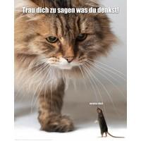 Verpiss dich Katze  - Mini Poster 40 x 50 cm