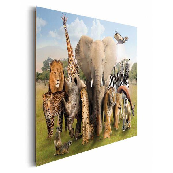 Wilde Tiere - Deco Panel 90 x 60 cm