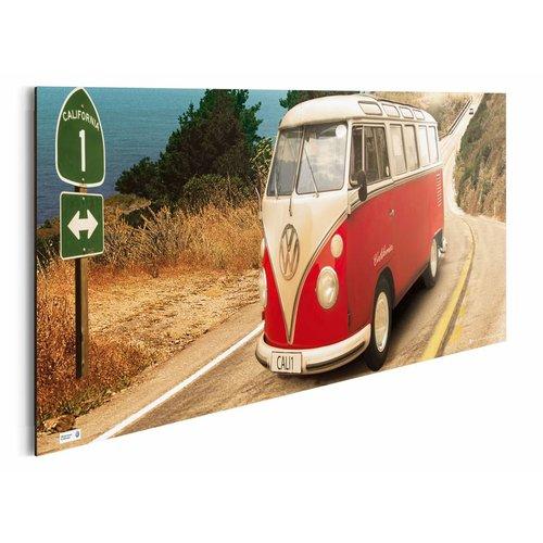Wandbild VW Camper California Route one