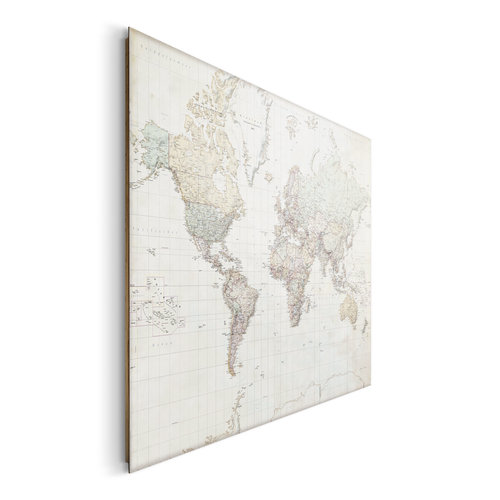 Wandbild Weltkarte Deutsch