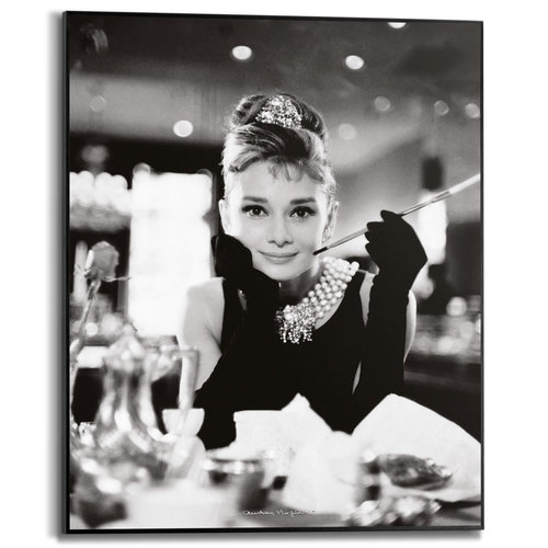 Gerahmtes Bild Breakfast at Tiffany's Audrey Hepburn