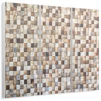 Holzmosaik - Wandbild 114 x 80 cm