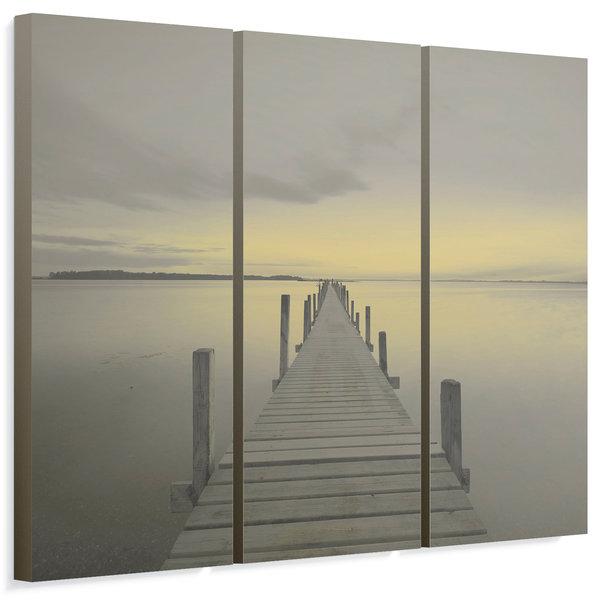 Steiger im Meer - Wandbild 114 x 80 cm