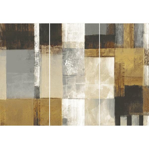 Quadrate Abstrakt - Wandbild 114 x 80 cm