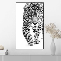 Panther Kräftig - Leopard - Raubtier - Gefleckt  - Gerahmtes Bild Art Frame MDF 70 x 118 cm