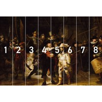 Die Nachtwache Alten Meistern - Rembrandt van Rijn - Rijksmuseum - Fototapete Vlies 384 x 260 cm