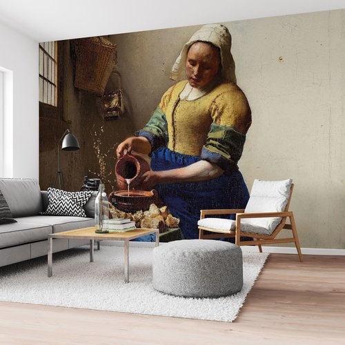 Fototapete Dienstmagd mit Milchkrug Johannes Vermeer - Alte Meister - Kunst - Rijksmuseum