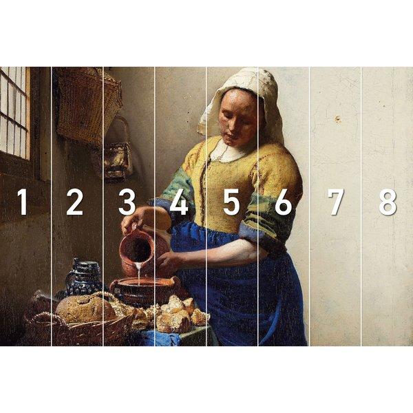 Dienstmagd mit Milchkrug Johannes Vermeer - Alte Meister - Kunst - Rijksmuseum - Fototapete Vlies 384 x 260 cm