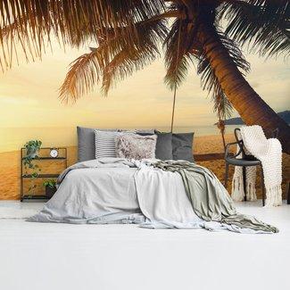 Fototapete Tropische Palmenschaukel Sonne - Wärme - Mer