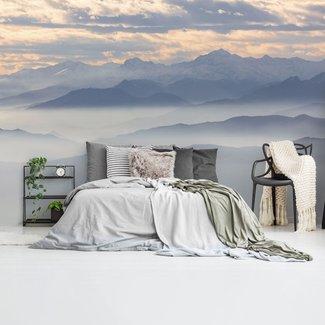 Fototapete Berge im Dunst Gebirge - Nebelig - Mystik - Höge
