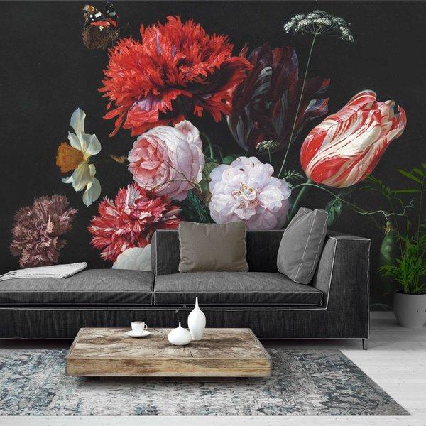 Stillleben mit Blumenvase Jan Davidsz de Heem - Alte Meister - Berühmte Gemälde - Blumen - Fototapete Vlies 384 x 260 cm