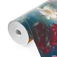 Blumenwelt Blumen - Pflanzen - Farbenfroh - Fototapete Vlies 384 x 260 cm