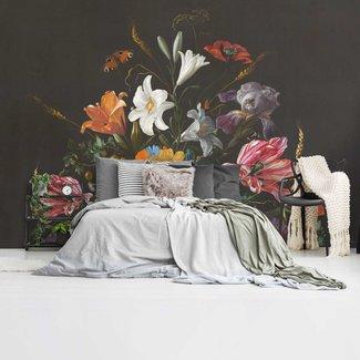 Fototapete Stilleben mit Blumen Jan Davidsz de Heem - Alte Meister - Berühmte Gemälde - Schmetterling