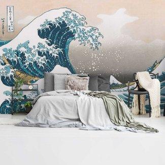 Fototapete Die große Welle   Mer - Wilde Wellen - Hokusai - Golf van Kanagawa
