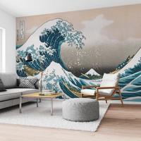 Die große Welle   Mer - Wilde Wellen - Hokusai - Golf van Kanagawa   - Fototapete Vlies 384 x 260 cm