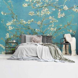 Fototapete Mandelblüte Vincent van Gogh - Berühmte Gemälde - Blumen - Blau