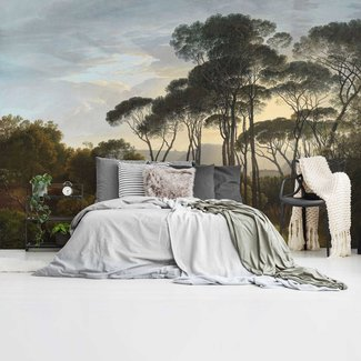 Fototapete Italienische Landschaft Alte Meister - Hendrik Voogd - Villa Borghese - Rome