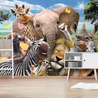 Fototapete Lustige Wildtiere  Dsjungel - Spaß - Zoo