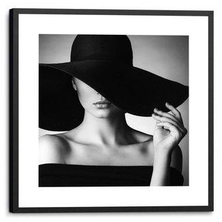 Gerahmtes Bild Schwarzer Hut