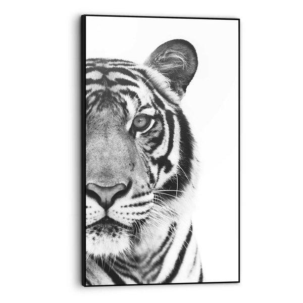 Tiger Raubtier - Kräftig - Portrait - Gerahmtes Bild Art Frame MDF 70 x 118 cm