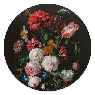 Glasbild Stillleben mit Blumenvase Jan Davidsz de Heem - Alte Meister - Berühmte Gemälde - Blumen