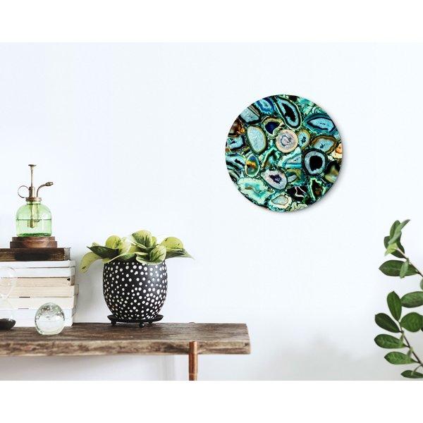 Edelsteine Wasser - Glasbild Round Art Glas 30 cm
