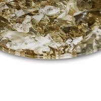 Edelsteine Kristall Gold - Glasbild Round Art Glas 30 cm