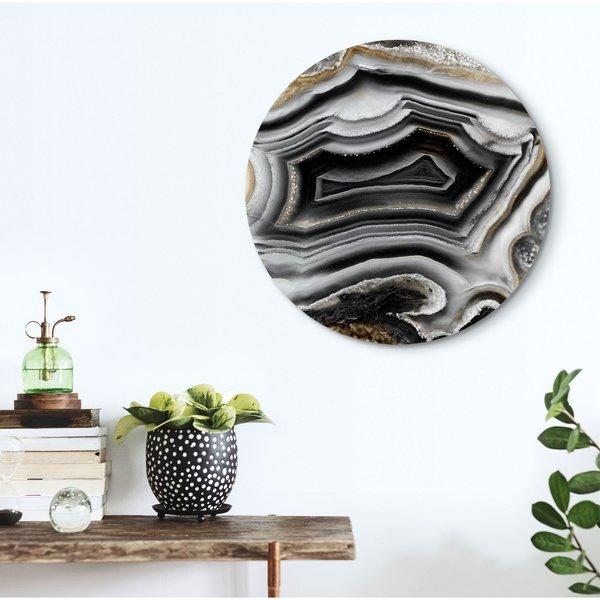 Edelsteine Marmor - Glasbild Round Art Glas 50 cm