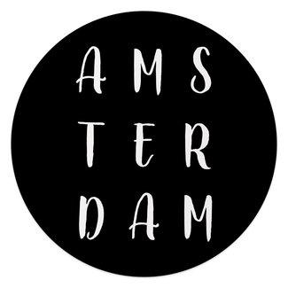 Glasbild Schwarz & Weiß Amsterdam