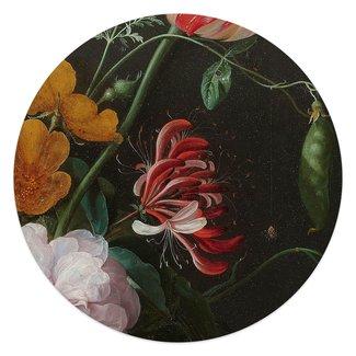 Glasbild Stillleben mit Blumenvase