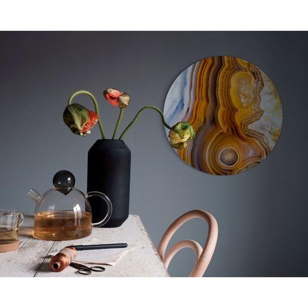 Edelsteine Erde - Glasbild Round Art Glas 50 cm