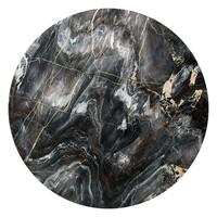 Edelsteine Maserung - Glasbild Round Art Glas 70 cm
