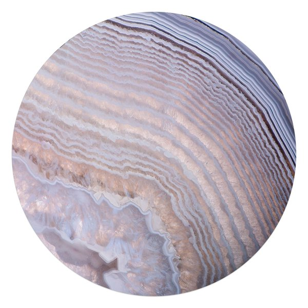Edelsteine Natur - Glasbild Round Art Glas 70 cm