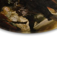 Alte Meister Nachtwache - Glasbild Round Art Glas 70 cm